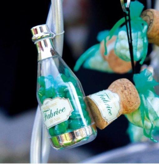 boite dragées bouteille champagne