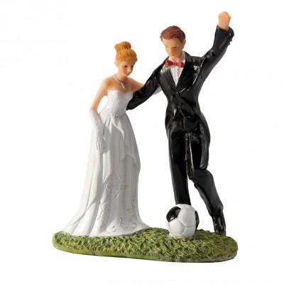 Figurine mariés football