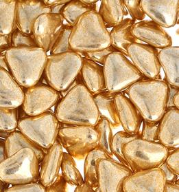 dragée coeur or