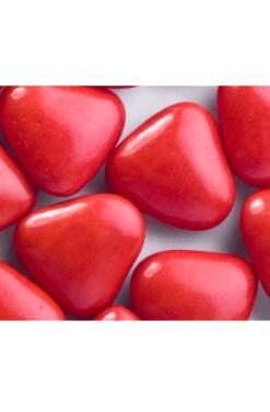 coeur chocolat rouge
