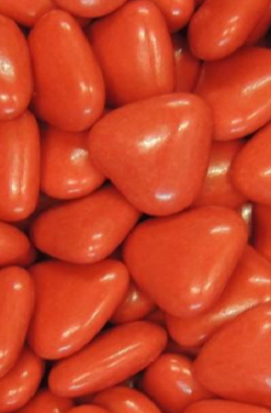 dragées chocolat coeur orange