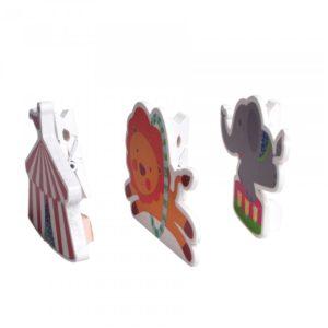 3 porte-cartes cirque