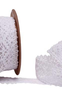 Jolie ruban dentelle blanc
