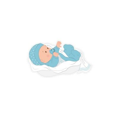Stickers bébé bleu