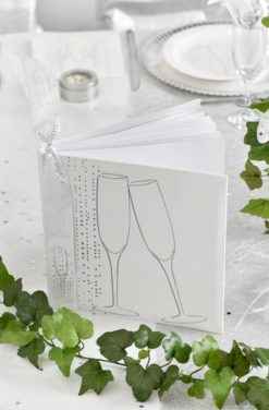 Livre d'or mariage champagne