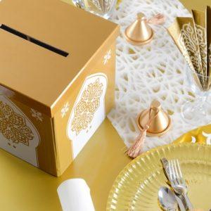 urne mariage dorée