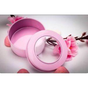 contenant à dragées rose
