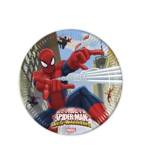 8 Assiettes SPIDERMAN