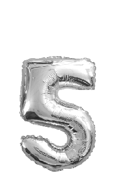 Ballon chiffre 5