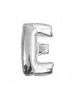 Ballon lettre E argent