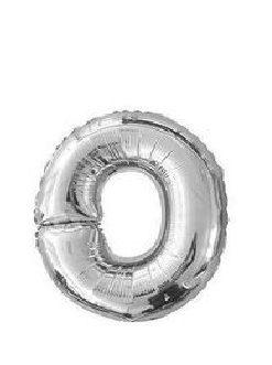 Ballon lettre O argent