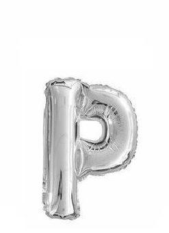 Ballon lettre P argent