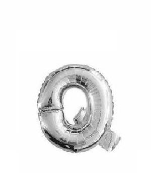 Ballon lettre Q argent