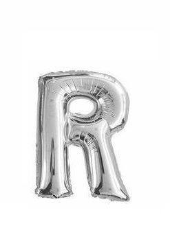Ballon lettre R argent