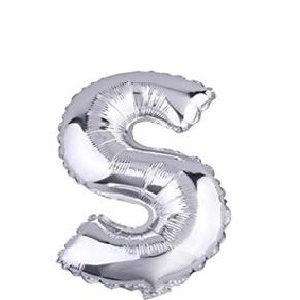 Ballon lettre S argent