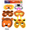 6 Masques animaux