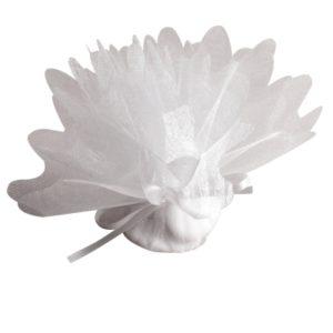 Tulle à dragées blanc