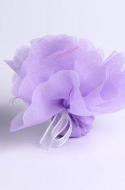 Tulle à dragées lilas