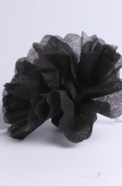 Tulle à dragées noir