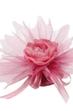Tulle à dragées vieux rose