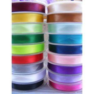 Différent coloris ruban satin