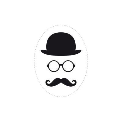 stickers chapeau lunettes