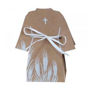 Contenant dragées avana communion robe