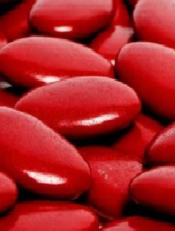 Dragée chocolat rouge