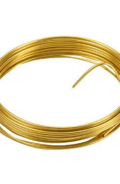 fil métallique doré
