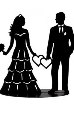 Couple de mariés noir