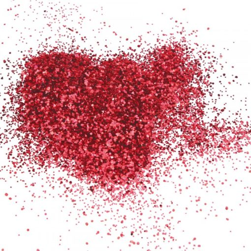 Paillettes rouge