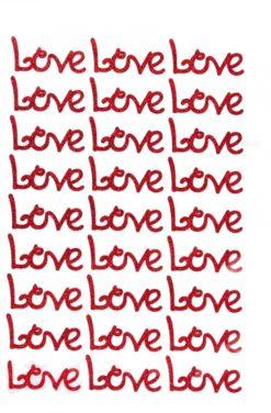 Love autocollant pas cher