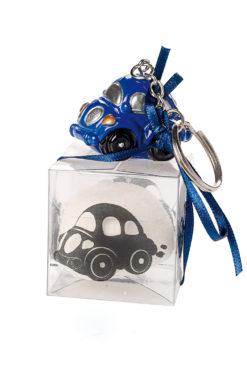 Porte clés voiture bleu
