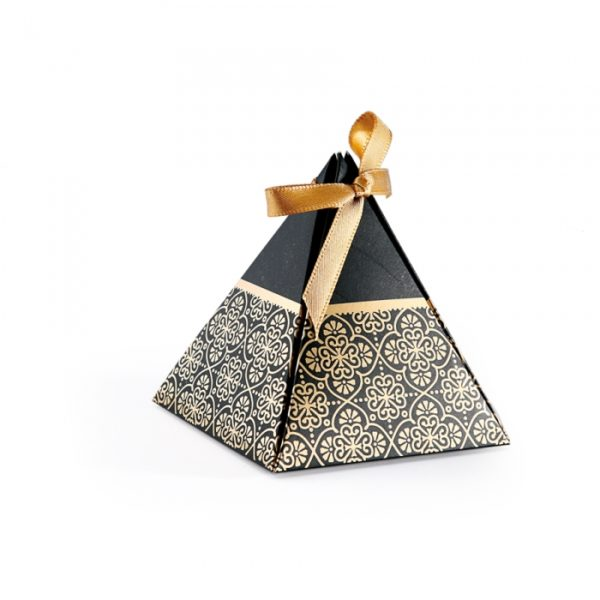 Contenant dragées pyramide