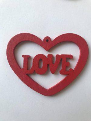 Coeur love rouge