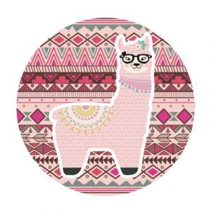sticker décoration lama